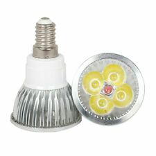 E14 Base 4W 4x1W LED Bulb Lamp White Light Spotlight Bulbs High Power