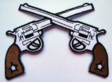 CROSS GUNS COWBOY Embroidered Iron on Patch Free Shipping