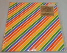 HALLMARK Wrapping Paper GIFT WRAP Bright Striped RAINBOW COLORS All Occasion NOS