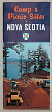 1963 Camp and Picnic Sites in Novia Scotia Canada brochure and map b