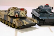 Radio / Remote RC Control Infrared-M1A2 Battle Tank twin pack Scale1:24 Kids Toy