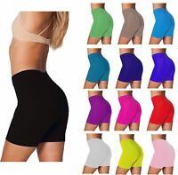 WOMENS CYCLING SHORTS LADIES CYCLE SHORTS COTTON ELASTANE BLACK COLORS (8-16)