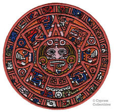 AZTEC MAYAN DOOMSDAY CALENDAR PATCH embroidered iron-on PARCHE PIEDRA DEL SOL