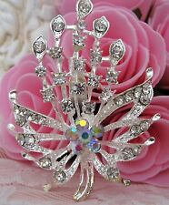 Ladies Crystal Rhinestone Brooch new