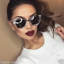 "MY Cat Eye SILVER CLEAR ""ronette"" Sexy Girl Designer  Women Sunglasses"