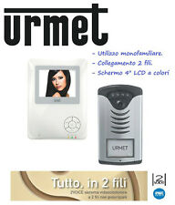 KIT VIDEO VIDEOCITOFONO URMET CITOFONO SET COLORI 4POL INFRAROSSI 2 FILI OFFERTA