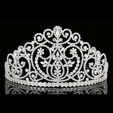 Bridal Beauty Pageant Prom Queen Wedding Rhinestone Crystal Crown Tiara 8966