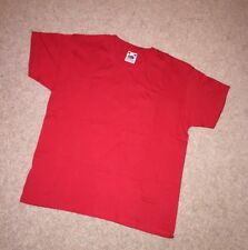 Red T-Shirt Age 7 To 8 Years Fruit Of The Loom Brand-New Cotton