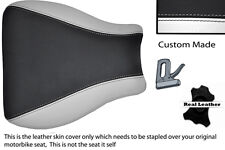 BLACK & WHITE 95-97 CUSTOM FITS KAWASAKI NINJA ZX6R 600 FRONT LEATHER SEAT COVER