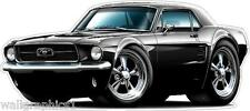 Decal Wall Graphic 1967 Ford Mustang 289 Coupe XL 4ft Long Garage Home Decor