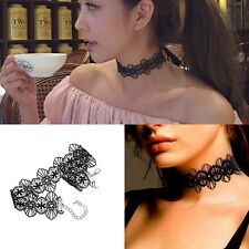 White/Black Lace Gothic Goth Vintage Sexy Lace Tattoo Choker Collar Necklaces