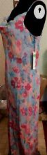 Dress Silk Maxi Abstract Floral Chiffon Summer Morrell Maxie size 8 New