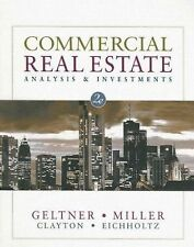 Commercial Real Estate Analysis and Investments by Jim Clayton, David M....