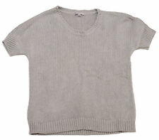 Gap Womens Grey Short Sleeve Thick Knit Jumper Pullover Top *Size XS
