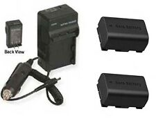 TWO 2 Batteries + Charger for JVC GZ-HM30BUS GZ-HM30RUSM GZ-HM30RAGM GZ-HM30AAGM