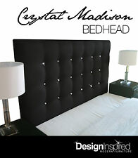 CRYSTAL MADISON Bedhead for Double Ensemble - Ebony