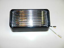 New 12 volt RV Porch Light rectangle clear lens trailer Black exterior no switch