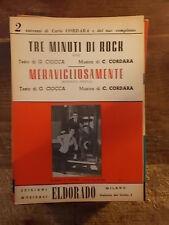 """SPARTITO CORDARA """"TRE MINUTI DI ROCK"""" + """"MERAVIGLIOSAMENTE"""""""