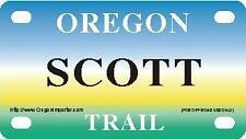 SCOTT Oregon Trail - Mini License Plate - Name Tag - Bicycle Plate!