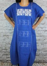 2XL Cotzocon Oaxaca Mexican Tunic Dress 100% Cotton Back Strap Loom Telar Huipil