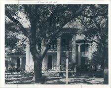 1986 Greek Revival Antebellum Menard Ouse The Oaks Galveston Texas Press Photo