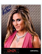 CRYSTAL LOUTHAN AUTOGRAPHED SIGNED 8x10 PROMO TNA Knockout Photo