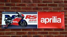 Br59 APRILIA RS250 MK1 LORIS REGGIANI Banner Garage officina sign