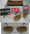 Ray Ban 3025 Aviator RB 3025 001/51 55mm Gold Frame Brown Gradient 55mm Small