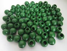 "Lot of 80 Green Wood Round Macrame Wooden Craft Jewelry Beads 13/16"" 20mm"
