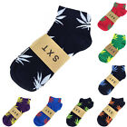 Hot New Cosy Men Maple Leaf Cotton Marijuana Weed Low Ankles Sock 14 Colors Y