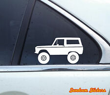 1x Lifted offroad truck sticker - for Ford Bronco (1966-1977) offroad classic
