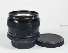 Kiron 28mm f/2 fast wide lens. MD mount for Minolta or NEX or EOS or M43.