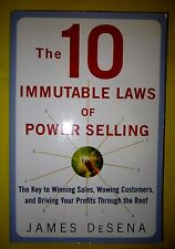 The 10 Immutable Laws of Power Selling Key to Winning Sales James DeSena Book