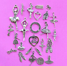 Ballet Deluxe Charm Collection 25 Tibetan Silver Tone Charms FREE Shipping E35
