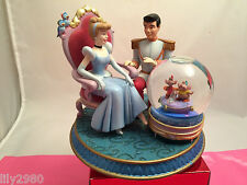 Disney  Princess Snowglobe  Cinderella Prince Charming Mice  Musical