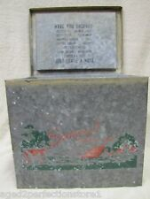 Old SUNCREST FARMS Milk Stoop Box embossed dairy egg porch delivery Cow Litho