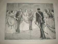 Fancy Quadrille dance Representing Flowers of the Month 1873 old print