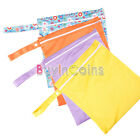Baby Travel Nappy Reusable Washable Wet Dry Cloth Zipper Waterproof Diaper Bag