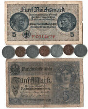 Rare Very Old Antique Vintage WWI WWII Nazi Germany War Coin Collection Note Lot