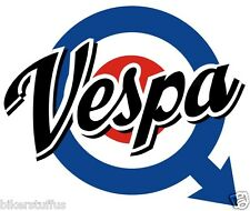 VESPA LOGO SCOOTER BUMPER STICKER HELMET STICKER LAPTOP STICKER