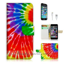 "iPhone 6 (4.7"") Print Flip Wallet Case Cover! Cool Gay Pride Colour Circle P0198"