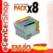 8 Cartuchos T1291 T1292 T1293 T1294 NON-OEM Epson Stylus SX435W