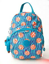 NWT Kipling Kid's Small Backapck In Dot Print With Furry Monkey Blue