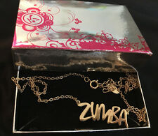 ZUMBA Fitness statement necklace - gold tone - rare - with box - great gift