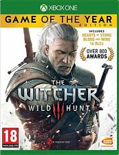 THE WITCHER III 3 WILD HUNT Game Of The Year GOTY - XBOX ONE - NEW & SEALED