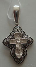 sterling silver 925'  Pendant Cross consecrated to the relics of st George #4s