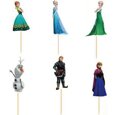 Disney Frozen Cupcake Toppers/Food Picks Party Decorating Favor Set of 24