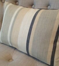 "12x16"" cushion cover in Laura Ashley Awning stripe charcoal, Austen Charcoal"