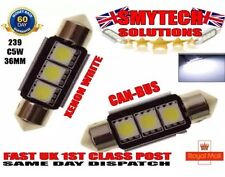 Canbus No Error 3 LED Number Plate Bulbs X2 Xenon White VW LUPO