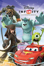 Disney Infinity - Group POSTER 60x90cm NEW * Jack Sparrow Cars Mike Sulley Davy